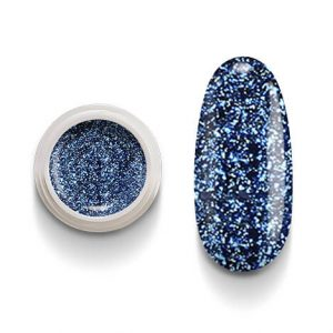 Cg210 Blu Flakes Gel Uv Led Occhi di gatto per laccature su Gel e Acrigel