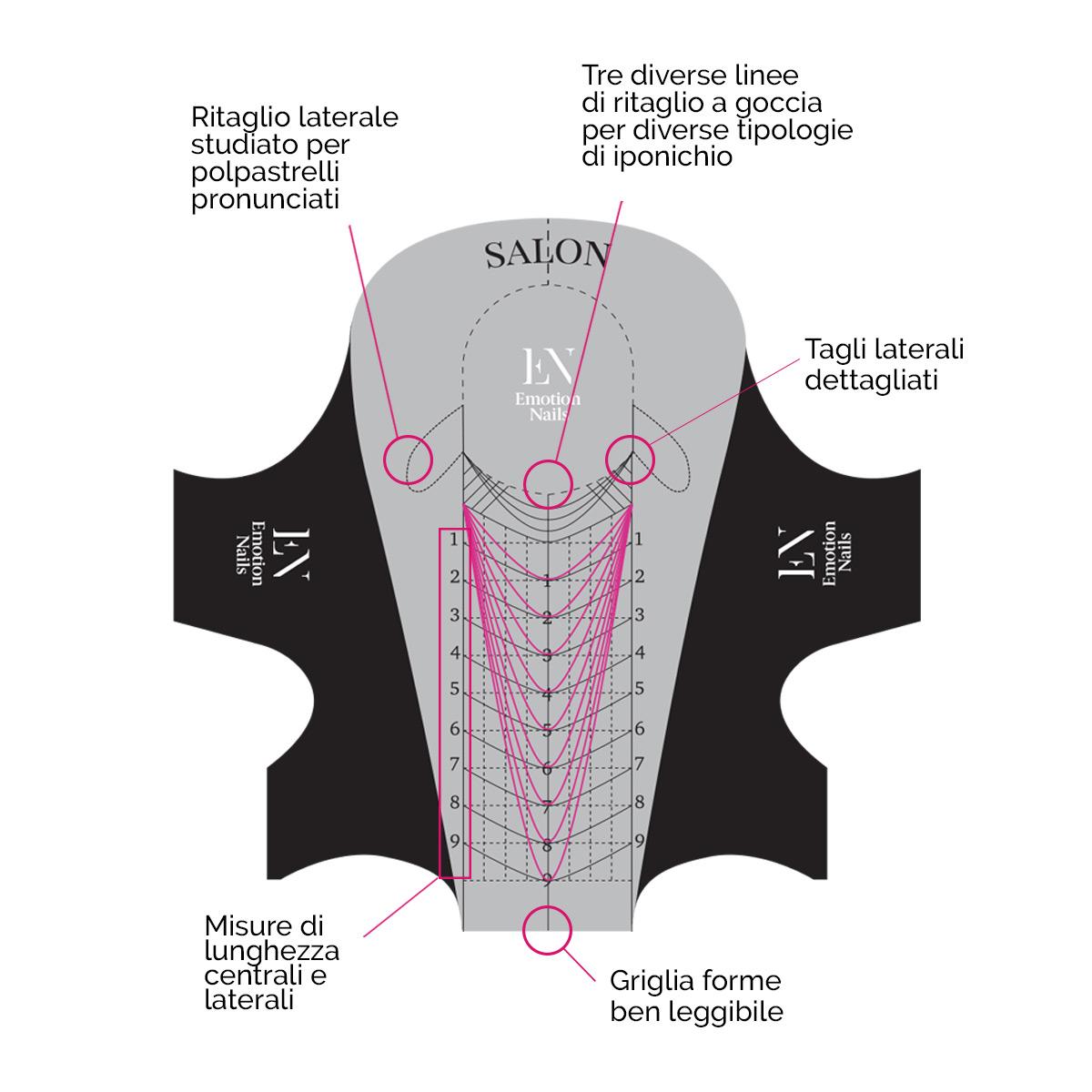 Nail Form 300 pz in alluminio per allungamenti - Emotion Nails